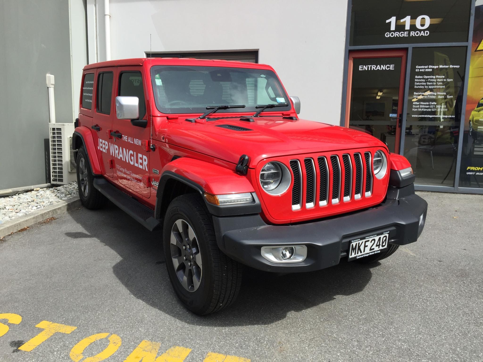 2019 Jeep Wrangler JL Overland 4 Door 3.6 8A